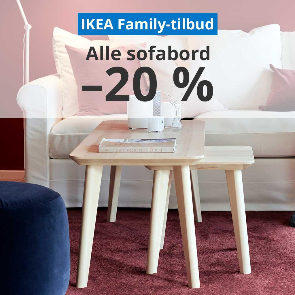 -20 % på alle sofabord.