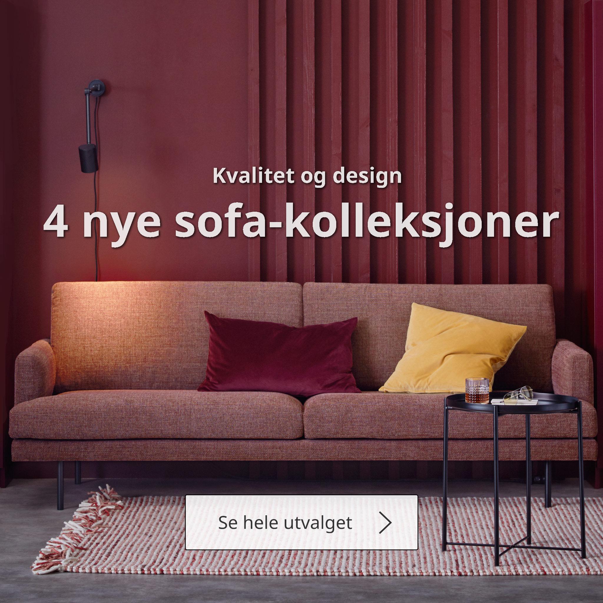 4 nye sofakolleksjoner.