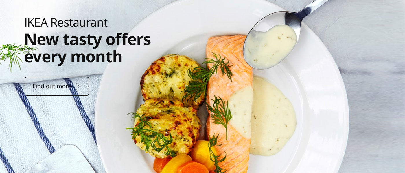 Enjoy new tasty food offers every month at the IKEA Restaurant in-store. Find out more!