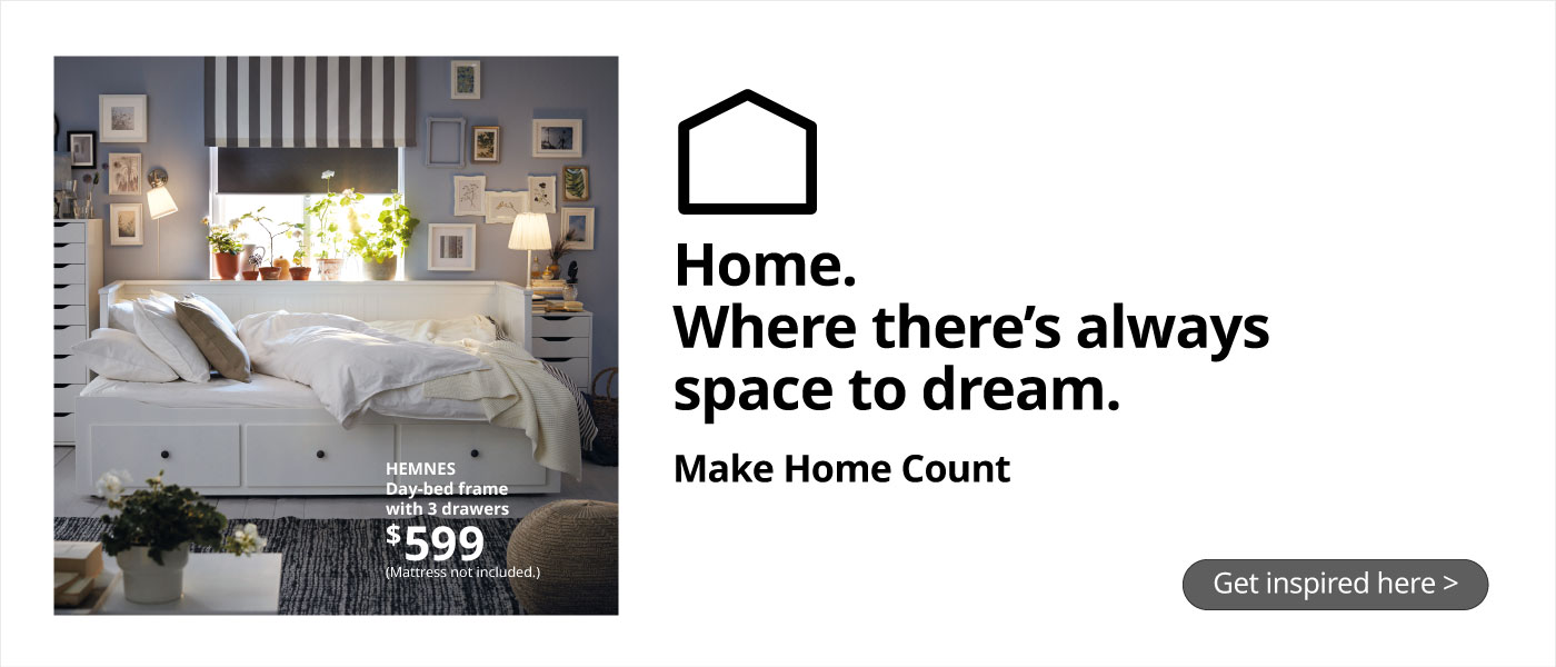 Make Home Count for Life at IKEA Home Furnishings!